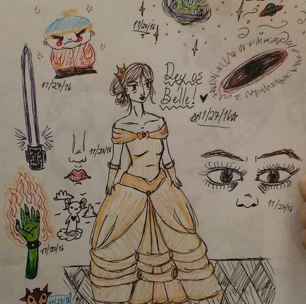 Rey as Belle by RosyKiya2
