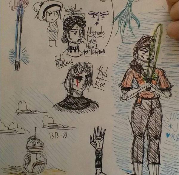 Star wars Doodle Dump by RosyKiya2