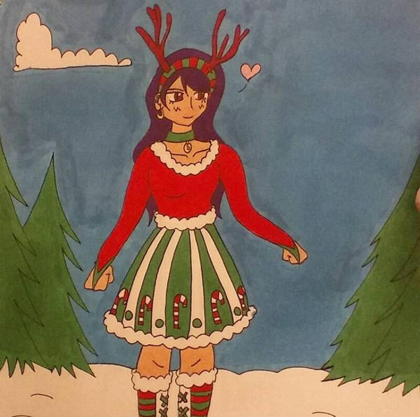 Copic Christmas Cutie by RosyKiya2