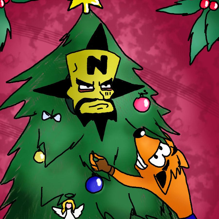 Crash Bandicoot Christmas.Crash Bandicoot And Cortex Christmas Tree Xd By