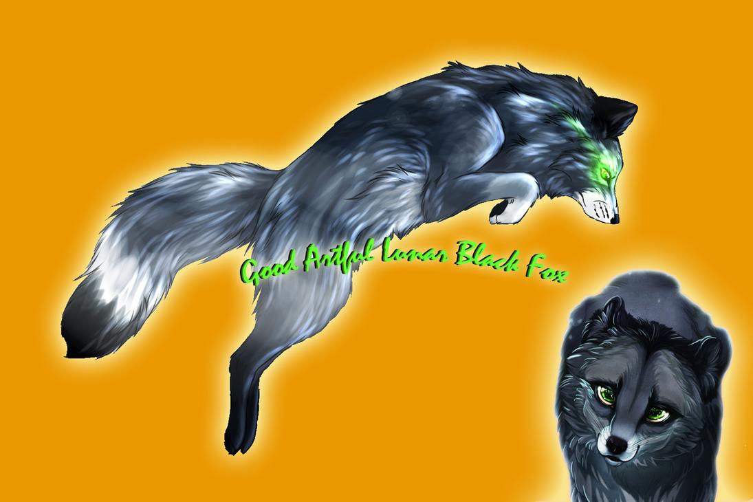 Good Artful Lunar Black Fox by Dark-Arctic-Fox