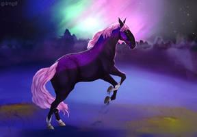 galaxy horse by GRIM-GIT