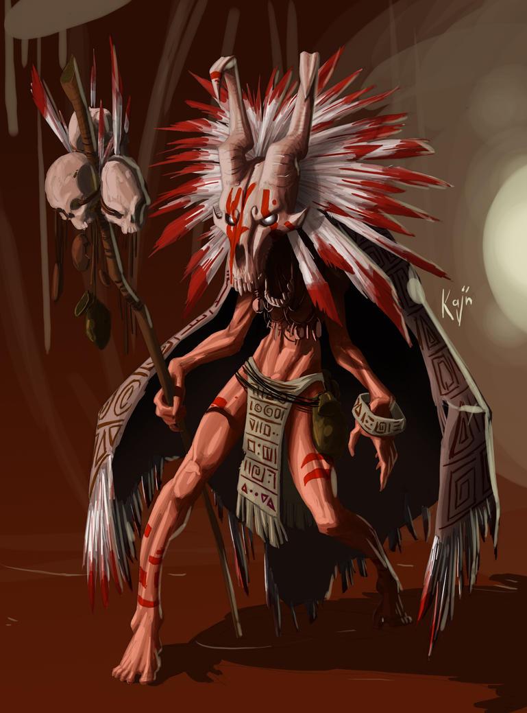 shaman color by kajinman