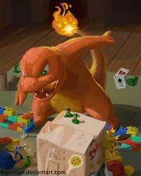 charmander's attack by kajinman