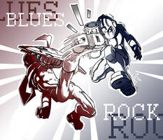 Blues vs Rock by kajinman