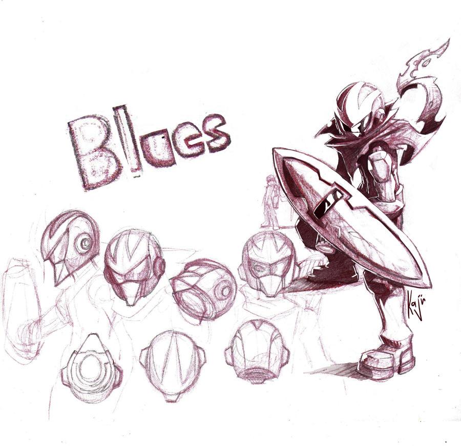 blues protoman by kajinman