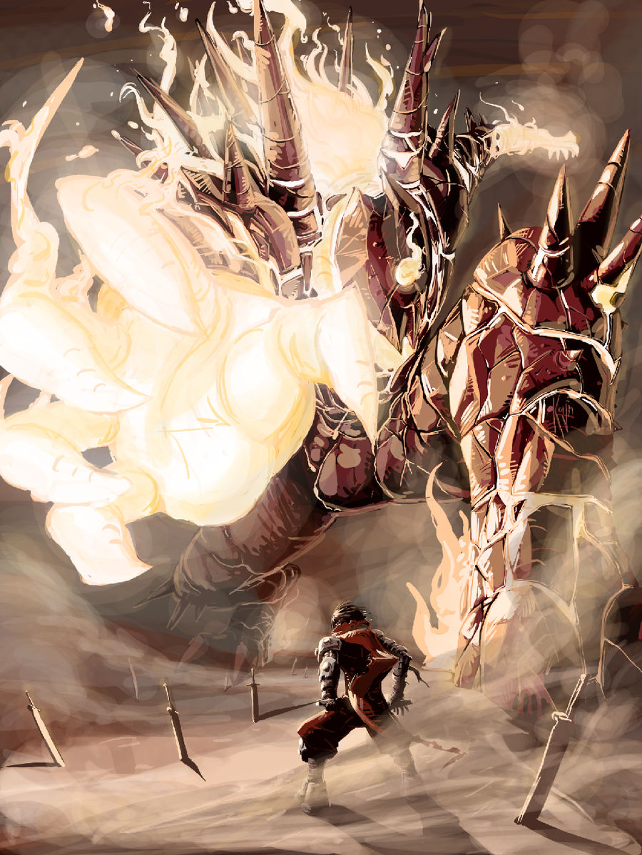 Fire Colossus by kajinman