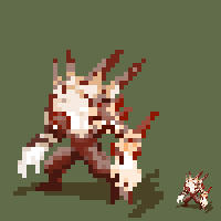 fire demon pixel xD by kajinman
