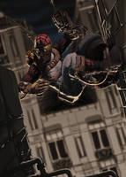 Spiderman steam punk by kajinman