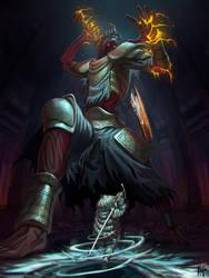 Yhorm, my old friend - Dark souls III by kajinman