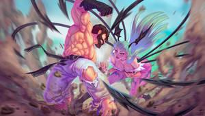Ryu vs Morrigan