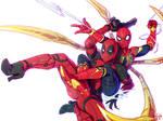 DeadPool X Spider-man by kajinman