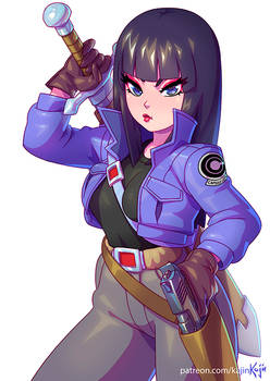 Mai trying Trunks suit