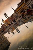 Piata Unirii - Mirror Image by alexnosilence
