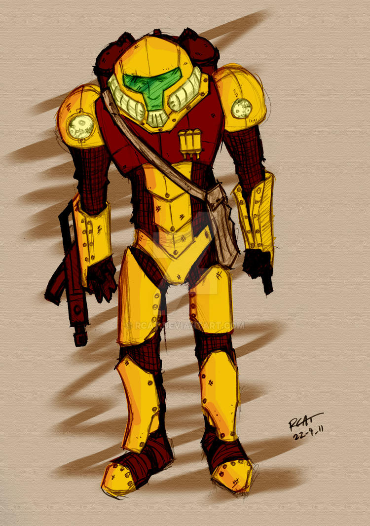 Steam Samus - Colour Sketch by rcat