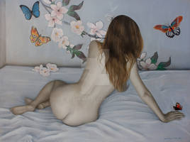 The lady of the butterflies