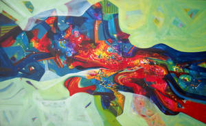 Beauty Of Nature,60inches X35inches,acrylic On Can