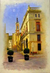 Calle interior de pueblo Sta Maria by EsglaiArt