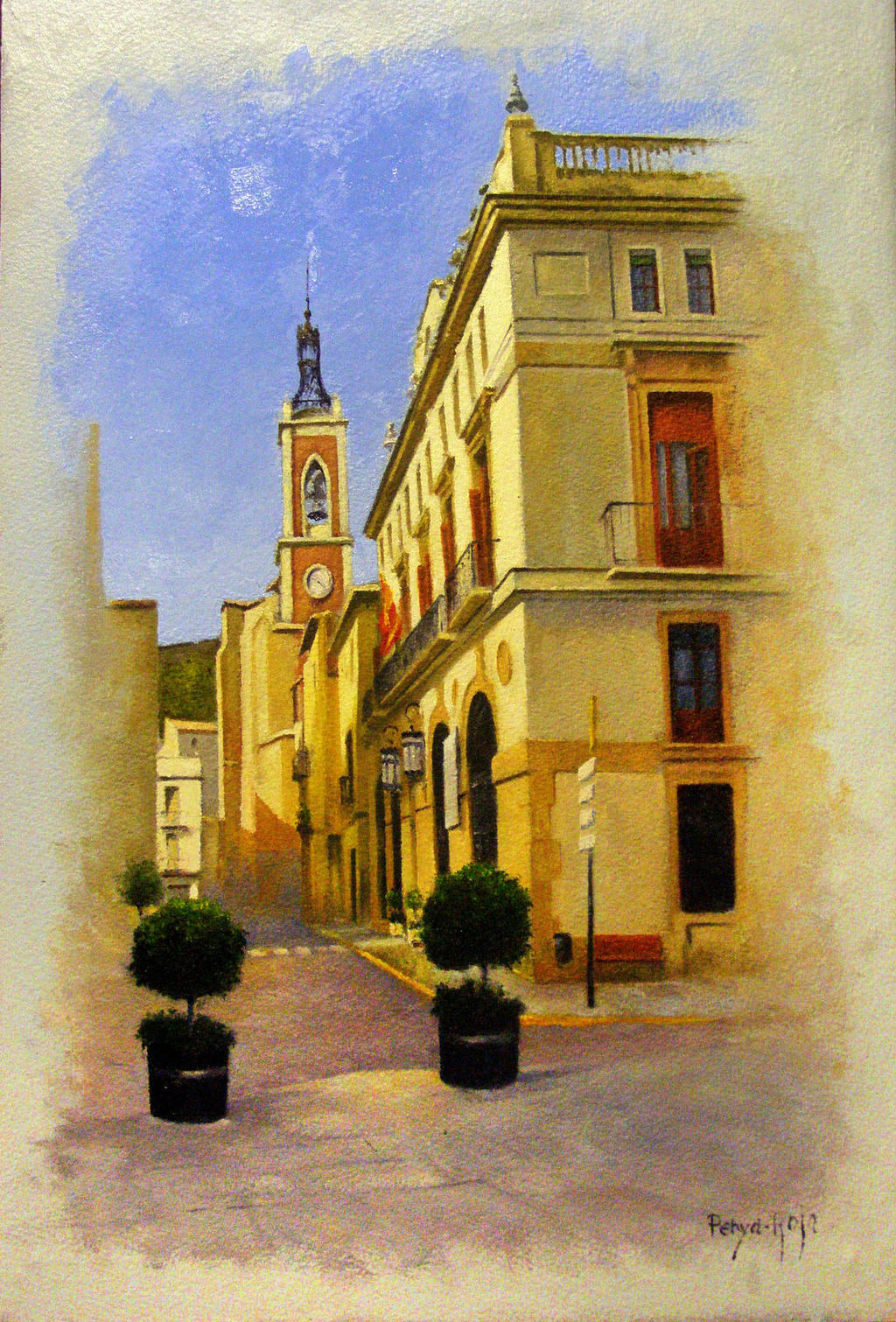 Calle interior de pueblo Sta Maria