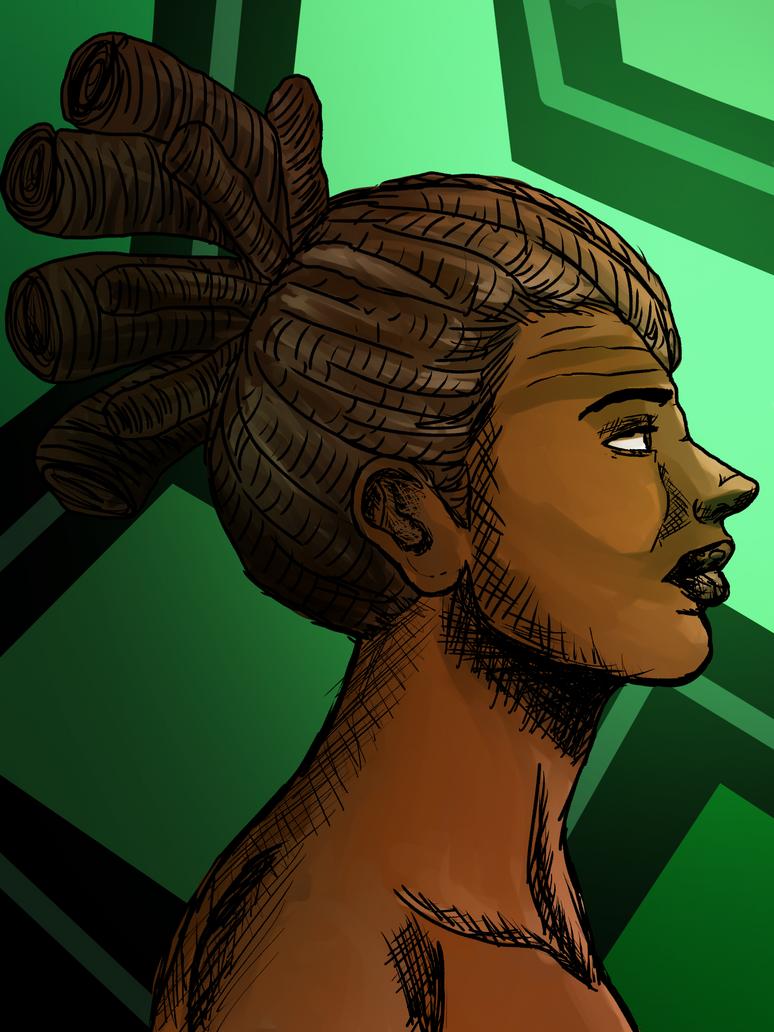 Black Woman- dreads by alston123