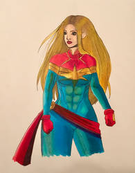 Ohuhu Markers: Captain Marvel by alston123