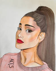 Ariana Grande: Ohuhus, Copics, and Prismacolors by alston123