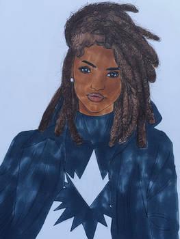 Monica Rambeau/Spectrum Sketch