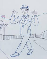 1930s Guy in Sketchbook