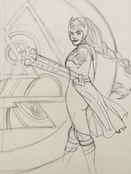 Jane Foster Valkyrie Sketch