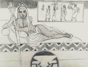 Storm Queen of Wakanda Sketch