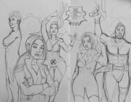 Marauders X Men Sketch