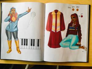 Meesha Sketchbook Spread