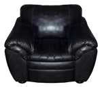 Black Leather Chair - PNG