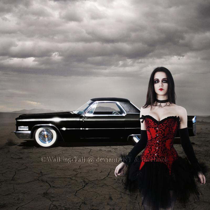 Slick Black Cadillac by Walking-Tall