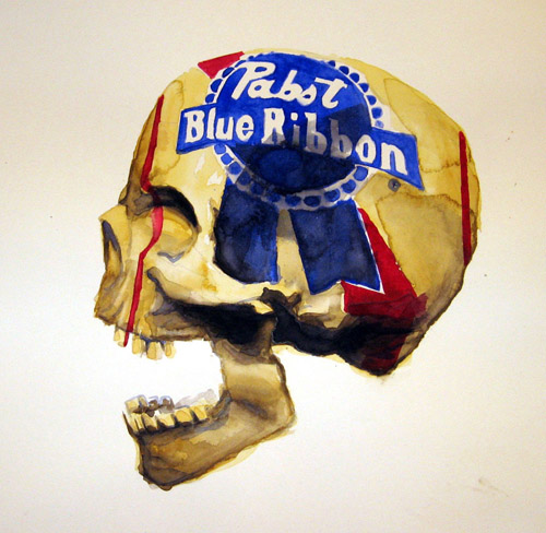 pabst skull by High-fiven-Zombie