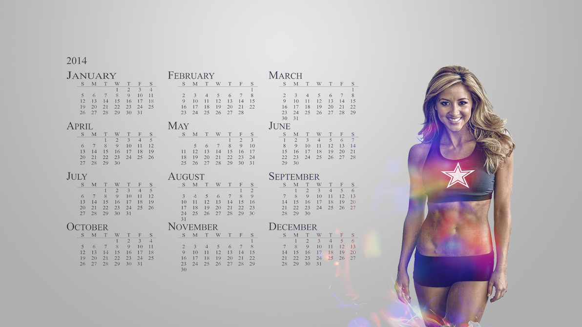 Sydney Dallas cowboys Cheerleader Calendar WP by LatinMind