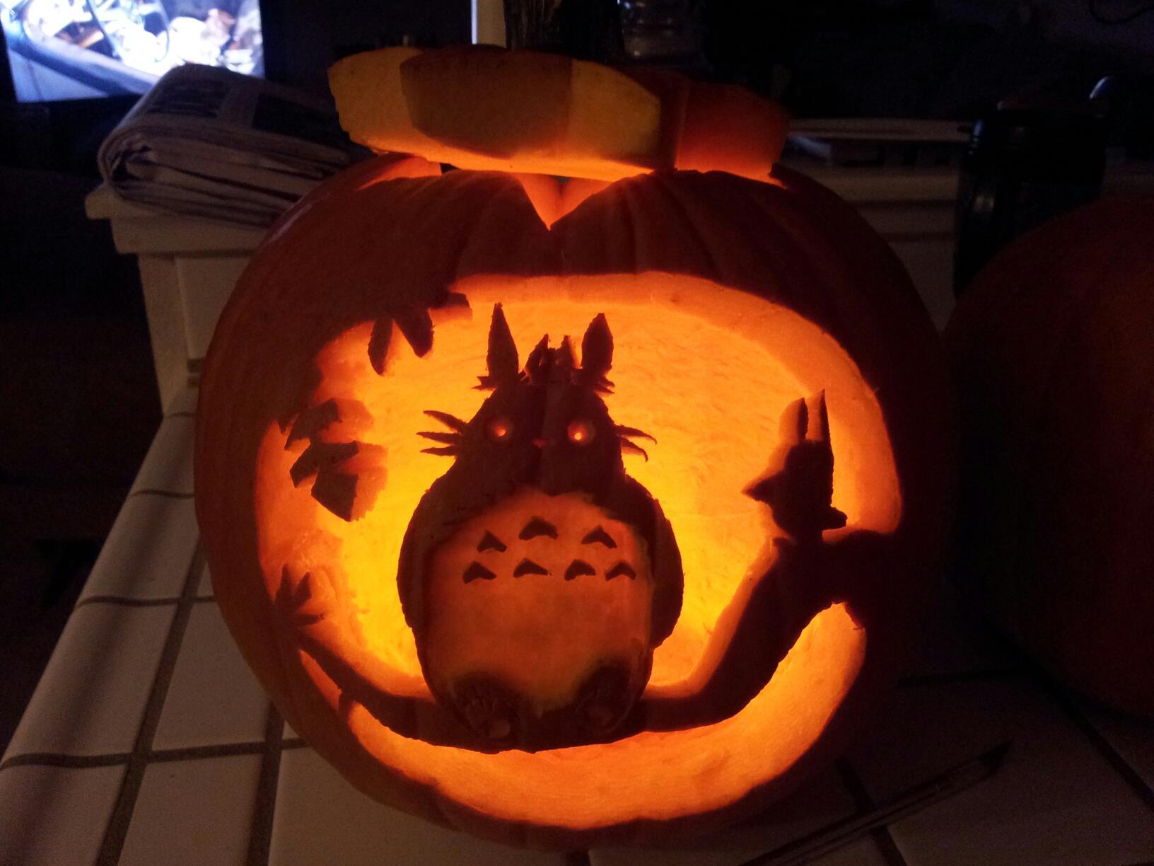 Totoro pumpkin carving by faye fox on deviantart