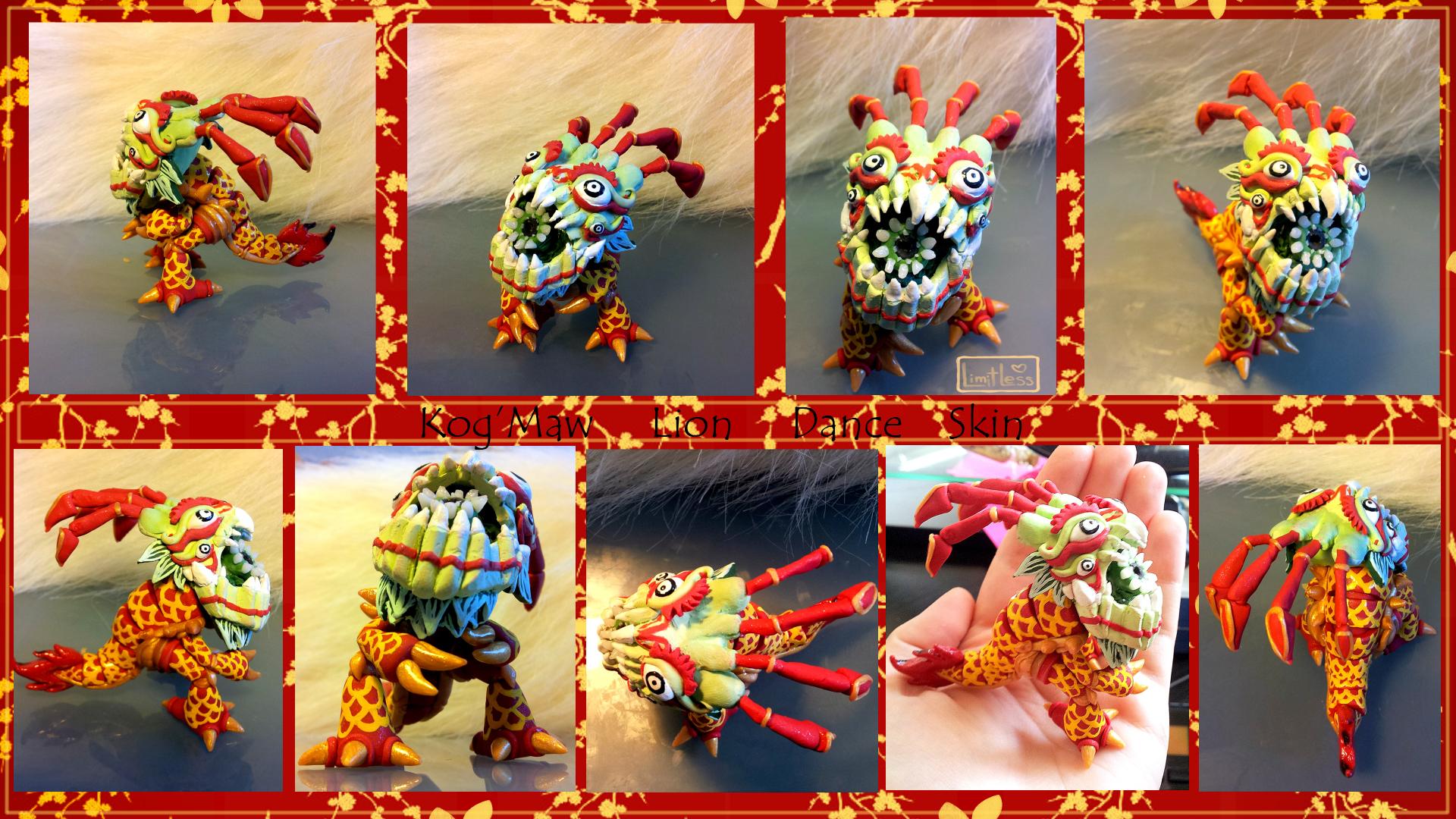 Kog'maw Lion Dance Skin commission by Faye-Fox