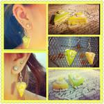 Lemon lime Cake Earrings