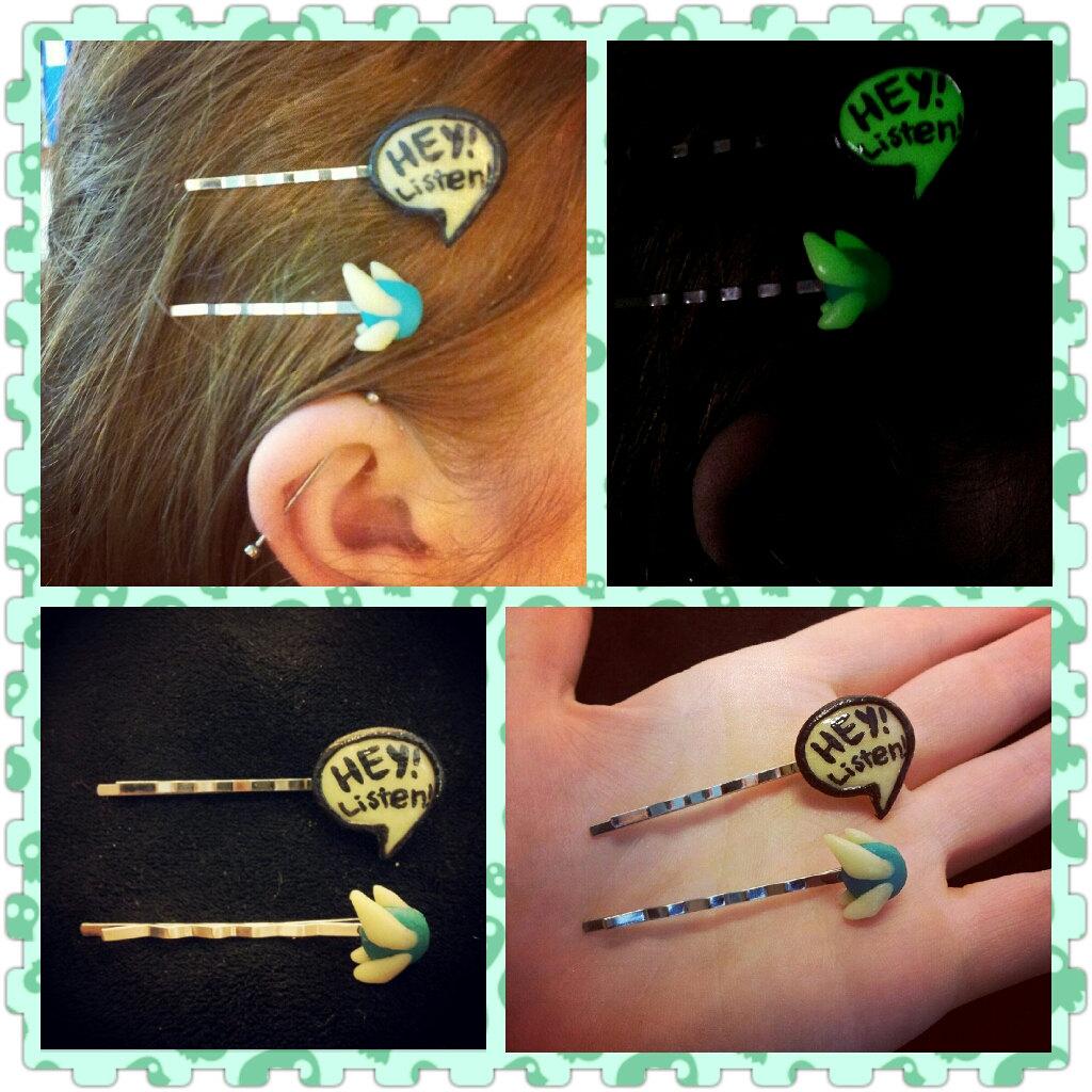 Navi and Speech Charm Hair Pin set by Faye-Fox