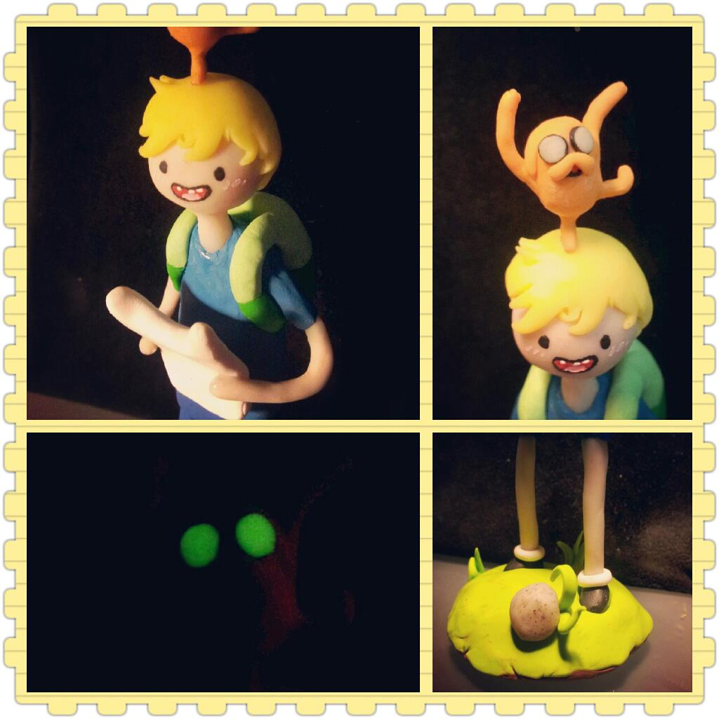 Day 5 Adventure Time Sculpture by LimitlessDreamer