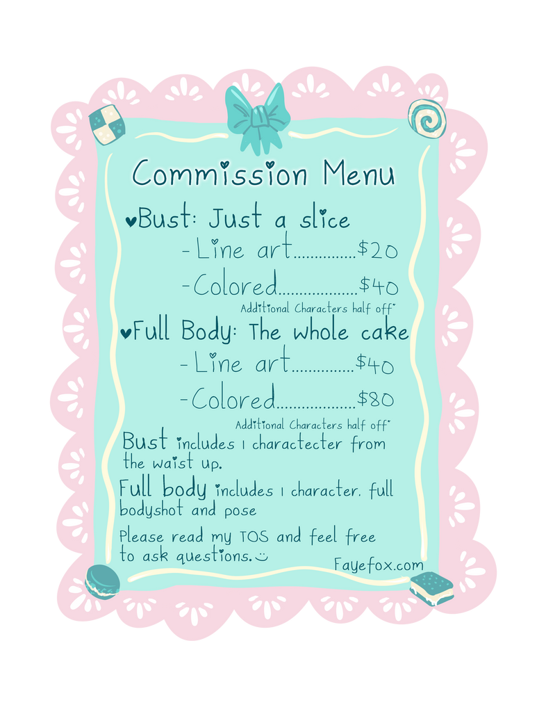 Commission Menu by Faye-Fox