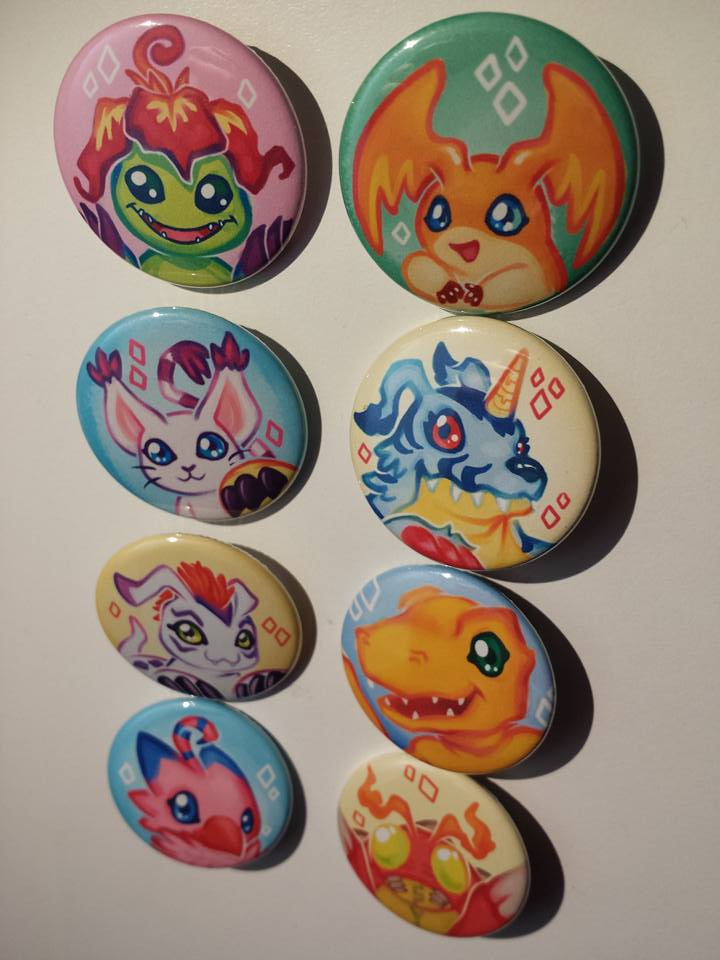 Digimon Adventure Tri Button pack by Faye-Fox