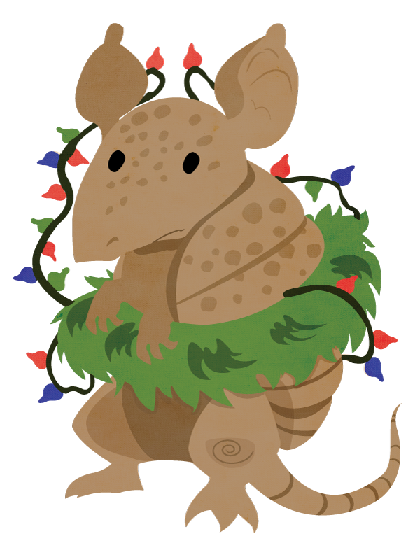 A Christmas Armadillo by dbkit on DeviantArt
