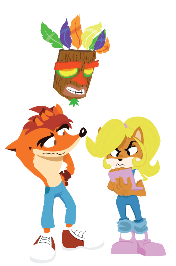 Mizz Coco and Crash Bandicoot by dbkit