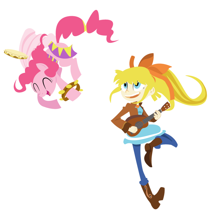 Megan and Pinkie by dbkit
