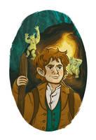 Illustration of Bilbo Baggins by Asiaglocke
