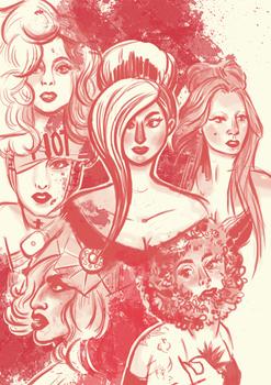 Scribbledibabeldi of Lady Gaga.