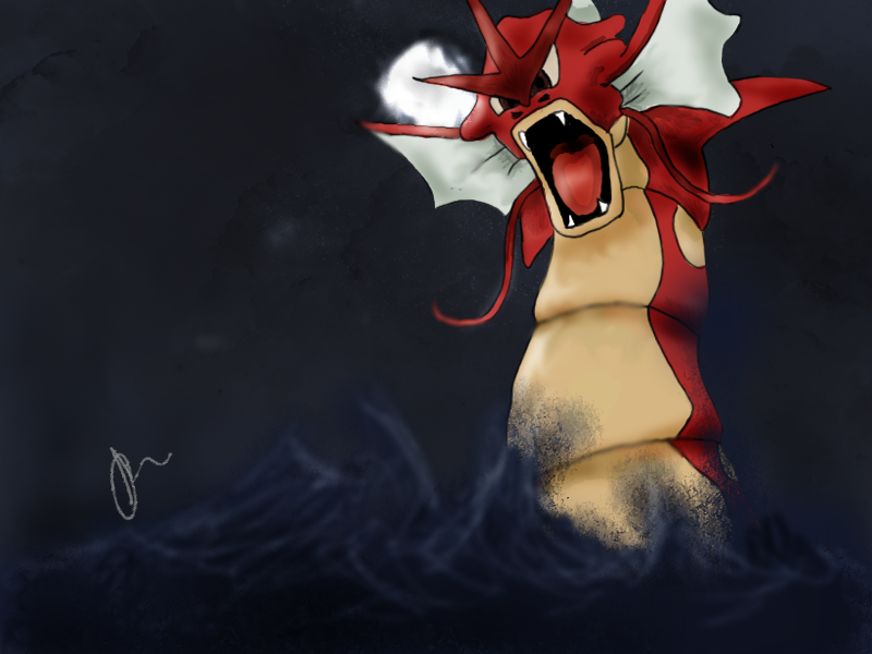 Red Gyarados by Pink-Chibi on deviantART