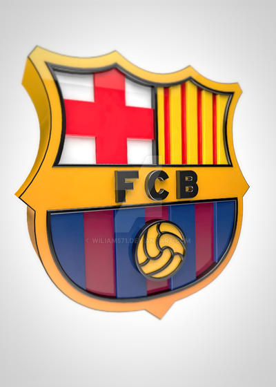 fc barcelona logo 3d by wiliam571 on deviantart fc barcelona logo 3d by wiliam571 on